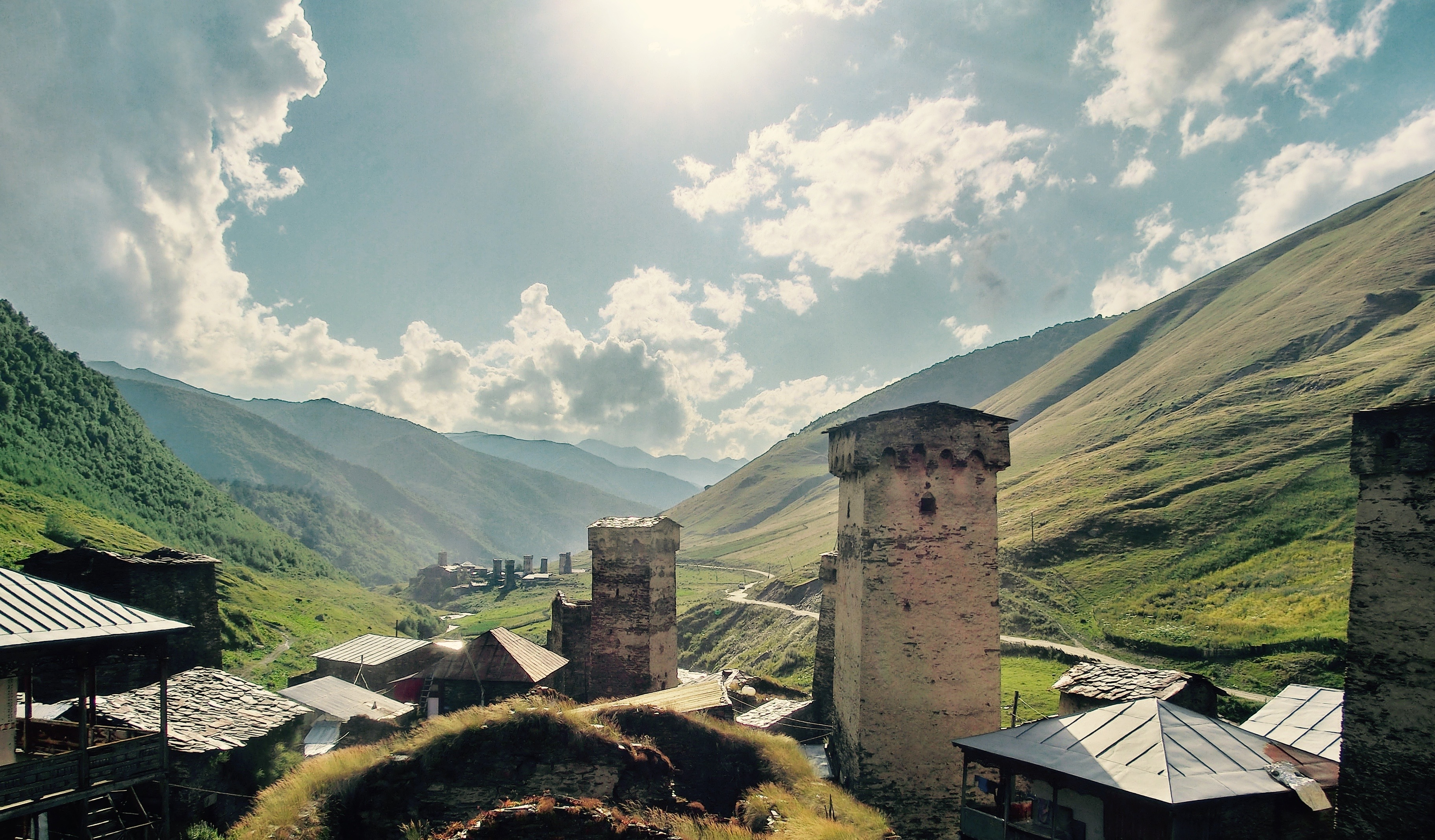 Svaneti; Ushguli; Georgia; Towers; Mountains; Caucasus; Trekking